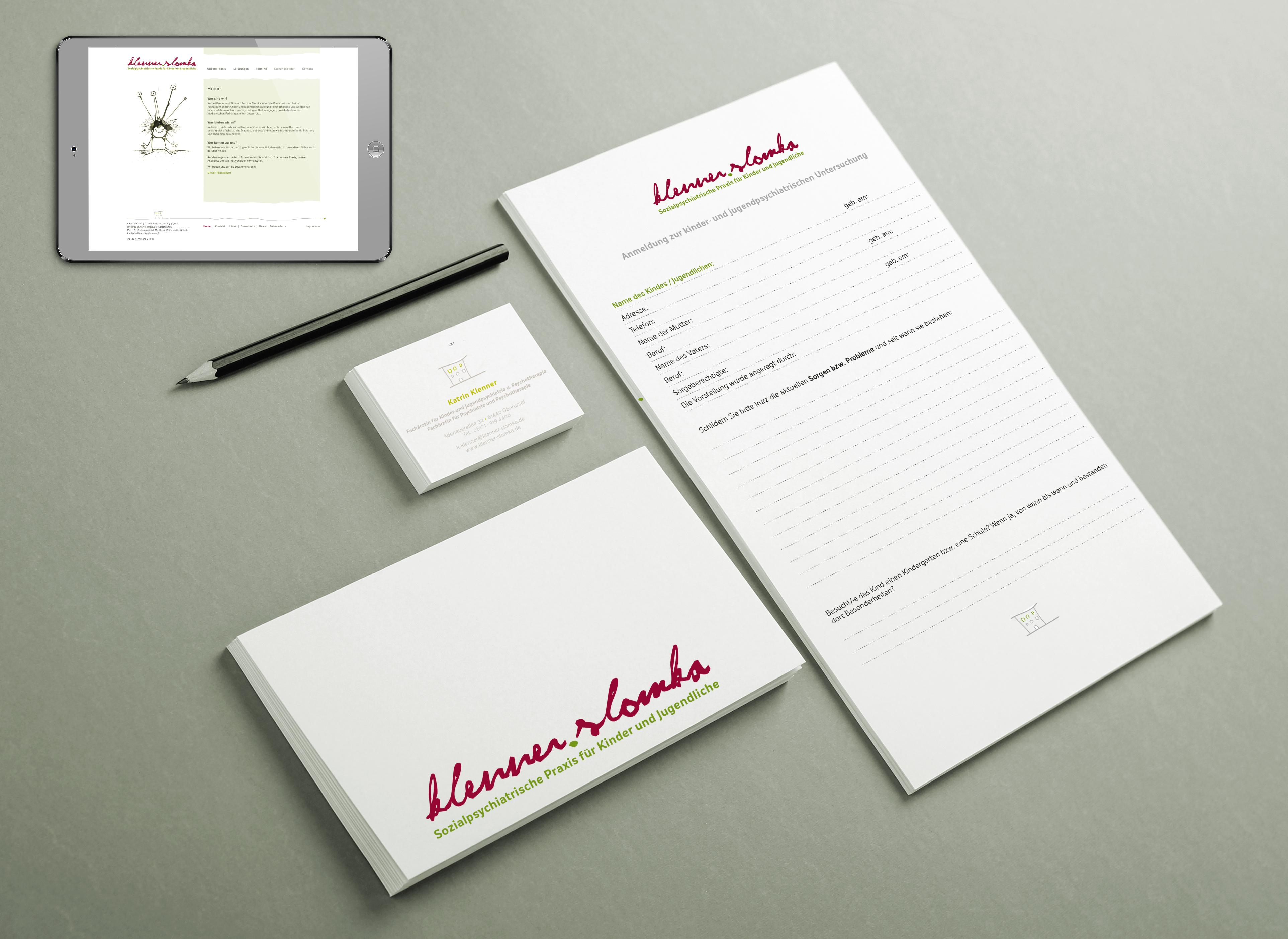 Geschäftsausstattung und Webseite - Klenner Slomka
