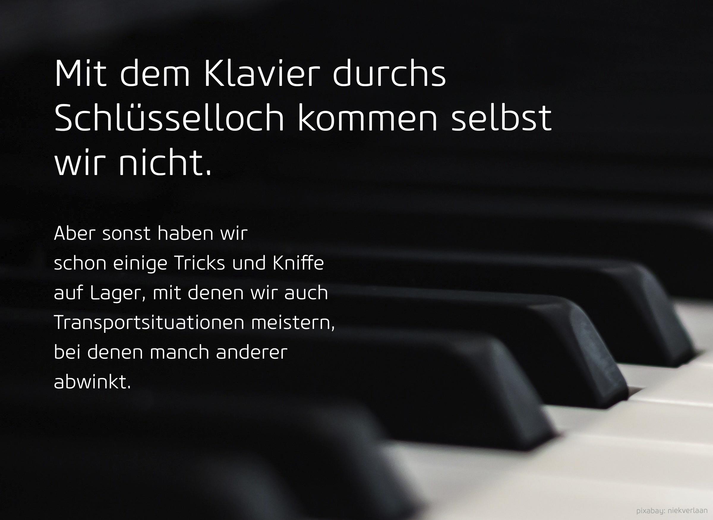 Klaviertastatur mit Text