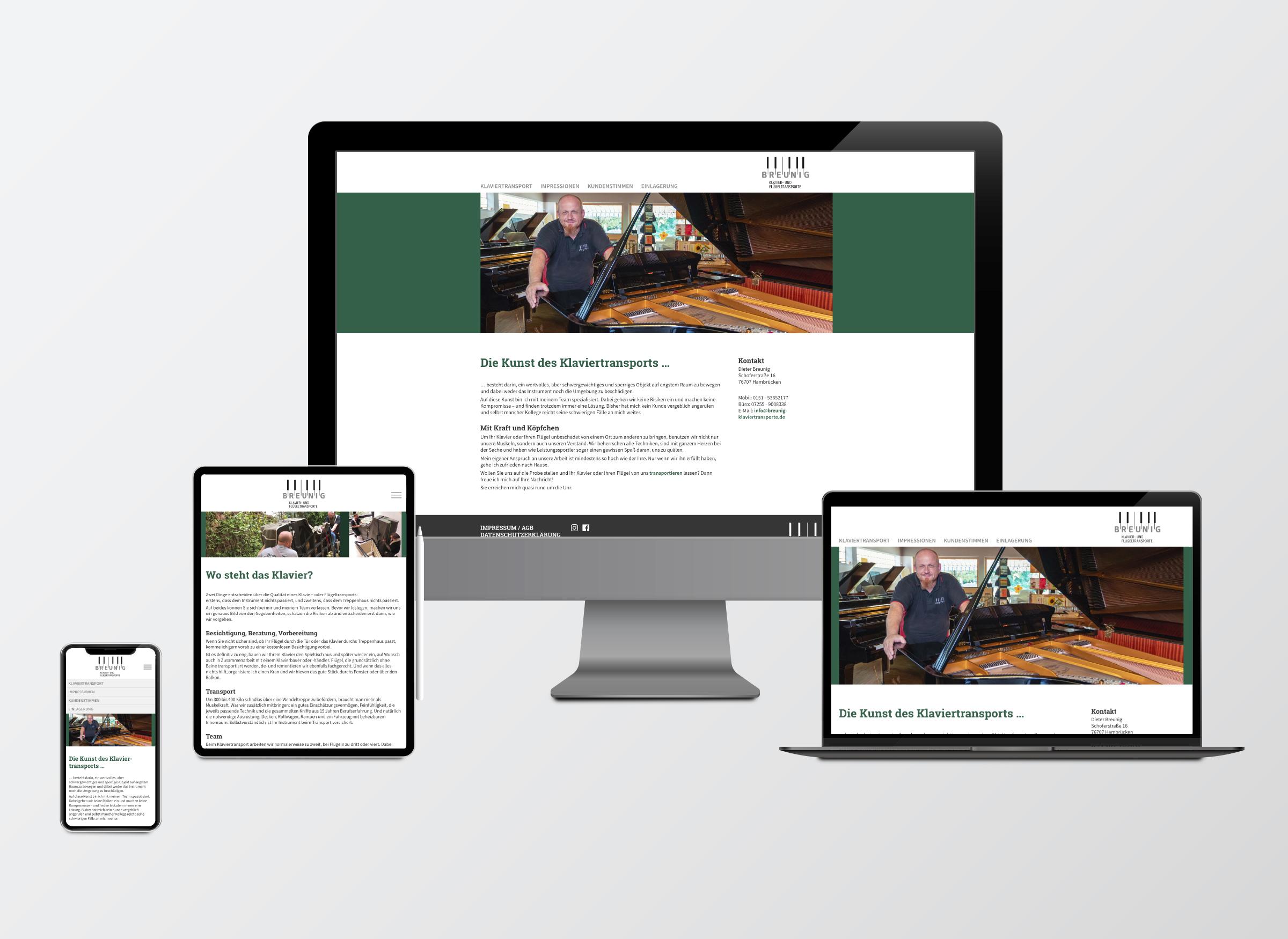 Webseite Dieter Breunig