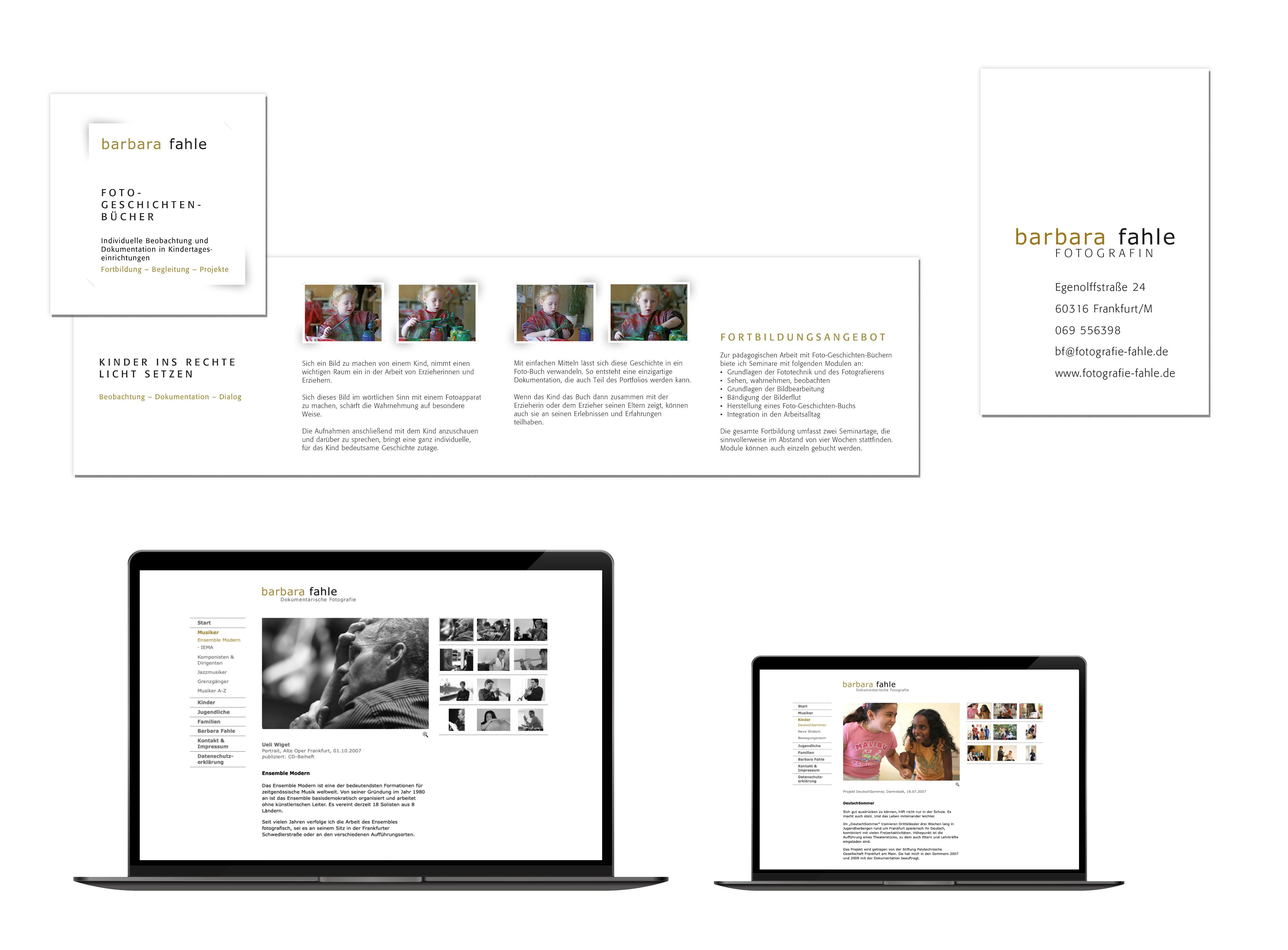 Flyer und Webseite