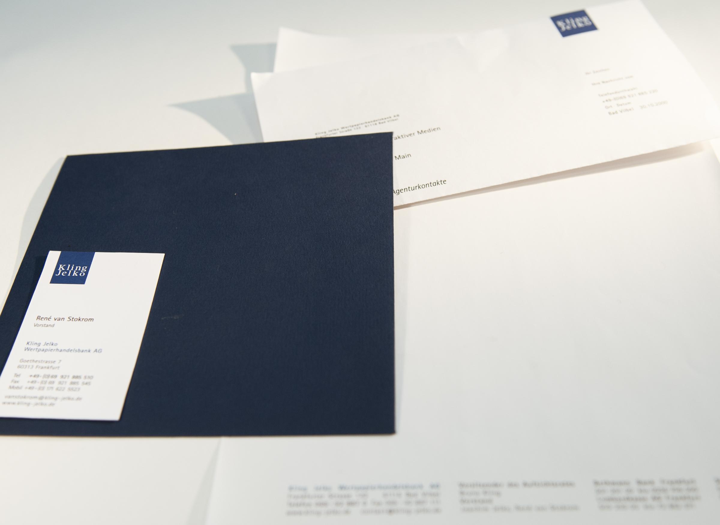 Briefpapier und Visitenkarte