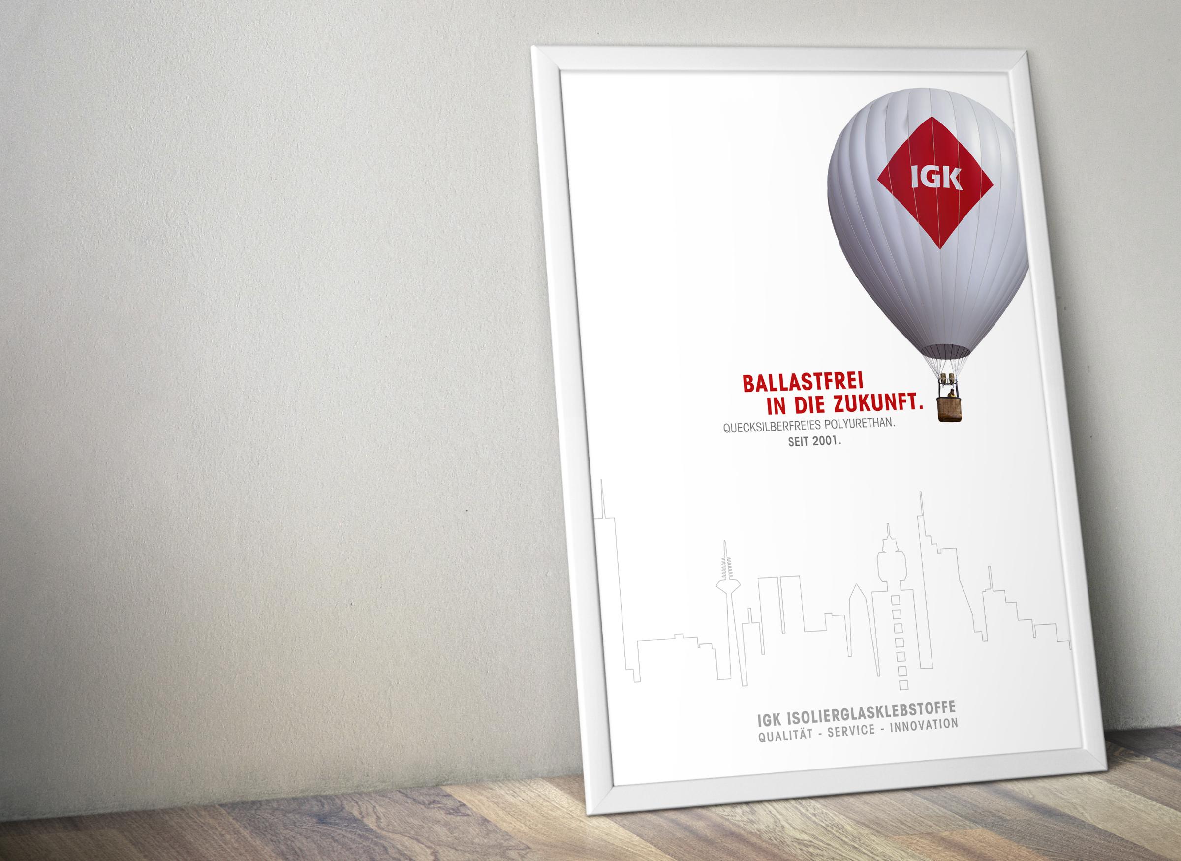 Plakat mit Ballonmotiv